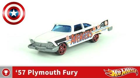 Hot Wheels - 57 Plymouth Fury - Captain America (4K UHD)