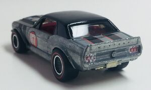 '67 Mustang Coupe. Rear view