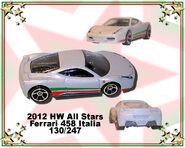 2012 HW All Stars Ferrari 458 Italia