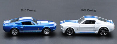 There are two different '67 Shelby GT500 castings: