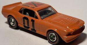 Orange custom mustang