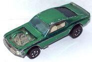 Mustang Boss Hoss green over chrome