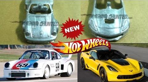 2017 Prototype Hotwheels C7 Z06 Corvette and Porsche 934
