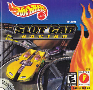The cover art for Hot Wheels Slot Car Racing