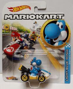 Hot Wheels 2019 Mariokart Light-Blue Yoshi Standard Kart 1//64 Characters Car
