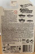 F&F Spy Racers Back Card