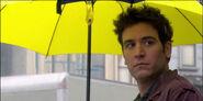 Тед тримає жовту парасольку