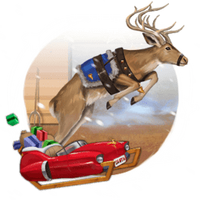 Weihnachtsrentierpferde