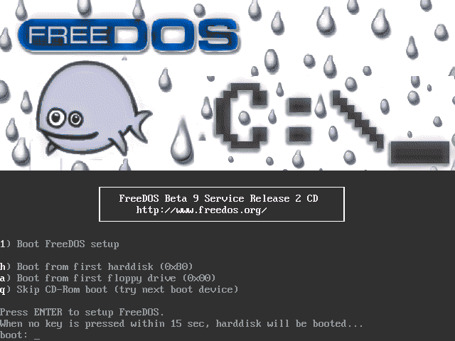 FreeDOS CD bootstrap