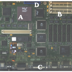 How to identify computer chips or integrated circuits on circuit boards