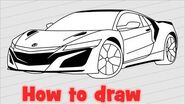How to draw Honda Acura NSX 2020