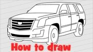 How to draw a car Cadillac Escalade