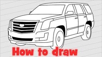 How_to_draw_a_car_Cadillac_Escalade