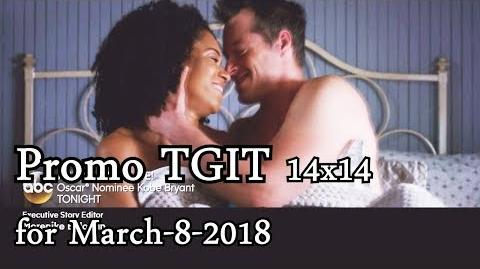 Grey's Anatomy 14x14 Promo - TGIT Promo - Season 14 Episode 14 with Scandal HTGAWM for March-8-2018