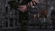 DOB - Hiccup tied up and taken prisoner along with his father, Stoick