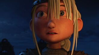 Astrid having heard Hiccup say don't close it