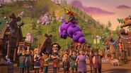 MM - Burple flying above the townspeople
