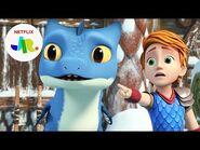 Magnus Machine Meltdown 🥶 Dragons- Rescue Riders- Huttsgalor Holiday - Netflix Jr