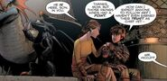 Hiccup and Valka about Stoick