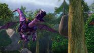 GOH - The mechano dragon having sent a rock at the tree