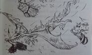 Dragons with feather bombs