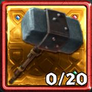 Grim Gold Dragon Hunter Hammer