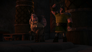 A Dragon Hunter tosses away Gobber's hook