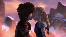 Hiccup and Astrid kissing Shell Fire, Part 2.jpg