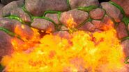 GGP2 - The fire having no effect on the slinkwing goo