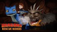 TRAPPED in a Cave DRAGONS RESCUE RIDERS