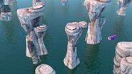 CC - Burple flying through sea stacks