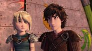 Hiccup nodding to Heather