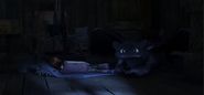 Hiccup sleeping on a shark