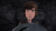 DOB - Hiccup turns his head at an incoming weapon from the distance
