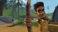 GOH - Elbone taking his turn at archery