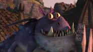 The dragon feel something