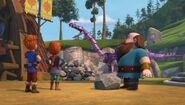 GOH - The mechano dragon tossing rocks