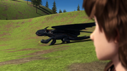 Toothless plays