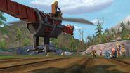 MM - The mecha dragon heading towards the hill
