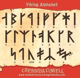 Viking Alphabet How To Train Your Dragon Wiki Fandom