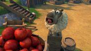 PE - Haggis still trying to get an apple