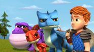 GGP1 - Three dragons glaring at Dak