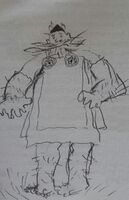 Gobber in Agatha's clothes