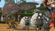 HM - The sheep having escaped the pen