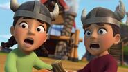 HM - The two kids seeing the boulder coming at them