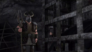 DOB - Back at Outcast Island Arena, Berserk and Outcast soldiers guarding the captured Toothless