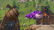 MM - Burple having hit a barrel with his tail