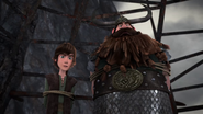 DOB - Hiccup and Stoick look down