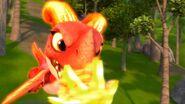 HM - Aggro sending a fireball at the belzium