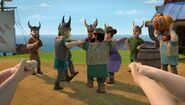 Villagers dancing